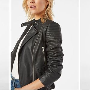BNWT JustFab Leatherette Black Moto Jacket